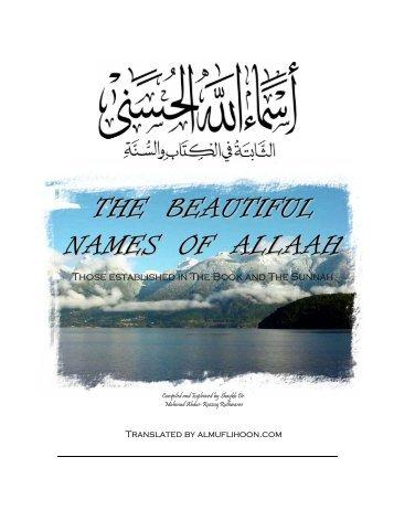 THE BEAUTIFUL NAMES OF ALLAAH - Moslim.se