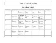 2012 12-Month Basic Calendar (any year) - Bellevue Christian School