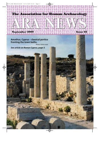 Newsletter Issue 22 - Association for Roman Archaeology