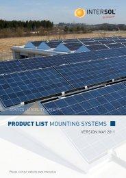 Product List Mounting systeMs - Solar-Bazaar