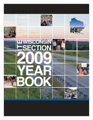 Yearbook - ITE Wisconsin Section