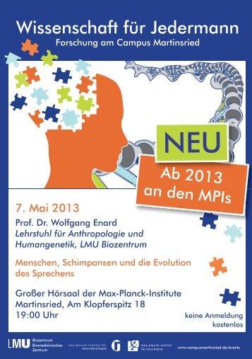 Wissenschaft für Jedermann - Campus Martinsried