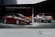 E-Class Saloon and Estate price list - Mercedes-Benz Deutschland