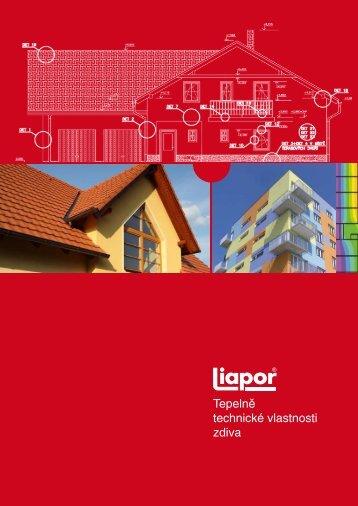 Tepelně technické vlastnosti zdiva - Liapor