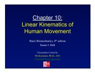 Chapter 10: Linear Kinematics of Human Movement