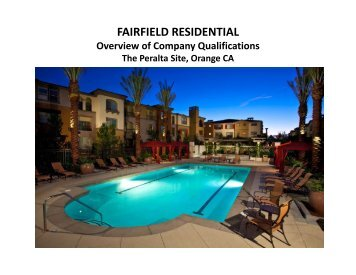FAIRFIELD RESIDENTIAL