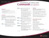 Commands At A Glance - LexisNexis