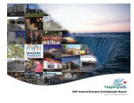 2007 Annual Business Development Report - Niagara Falls, Ontario ...