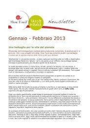Gennaio - Febbraio 2013 - Slow Food