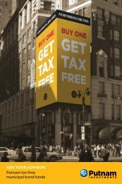 Tax Free prospecting postcard - Putnam Investments