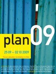 Forum aktueller Architektur in Köln - plan project