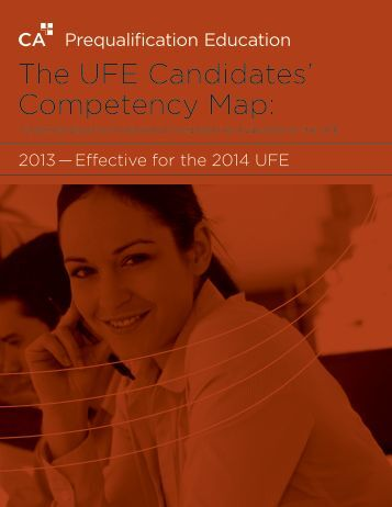 The UFE Candidates' Competency Map: - Chartered Accountants of ...