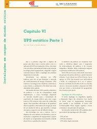 Capítulo VI UPS estático Parte 1 - Revista O Setor Elétrico