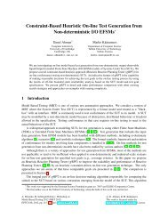Constraint-Based Heuristic On-line Test Generation from Non ...