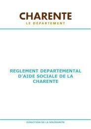 reglement departemental d'aide sociale de la charente