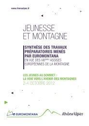 Document Jeunesse et montagne - Euromontana