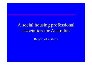 Farrar, Mr Adam - National Housing Conference