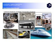 Application Pictures ([PDF], 7Mb) - J. Lanfranco Fastener Systems