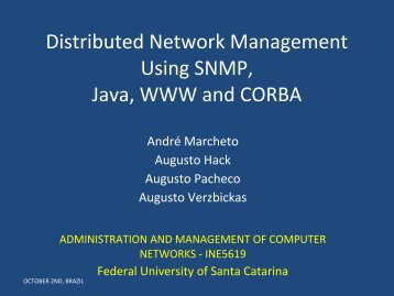 Distributed Network Management Using SNMP, Java, WWW and ...