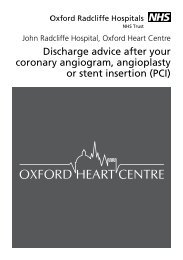 Discharge advice after your coronary angiogram, angioplasty or ...