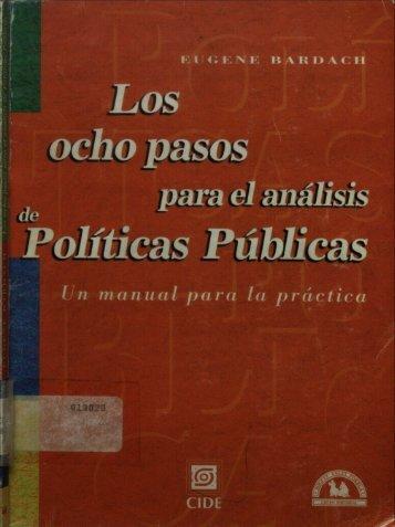 LOS OCHO PASOS PARA EL ANALISIS DE POLITICAS PUBLICAS