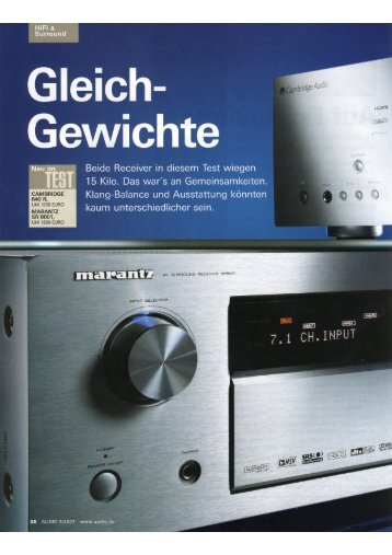 """Cambridge Audio Azur 640R Audio 05/2007 - """"Gleich"""