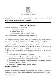 PROGETTO DI POLITICHE ATTIVE SUL LAVORO a valere sull'UPB ...