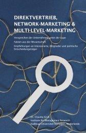DIREKTVERTRIEB, NETWORK-MARKETING & MULTI-LEVEL ...