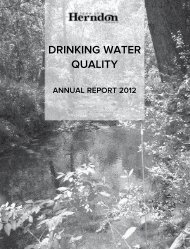 DRINKING WATER QUALITY - Town of Herndon