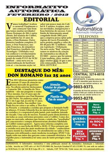 Fevereiro - Portal Automática Automação e Informática Ltda