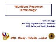 """Munitions Response Terminology"""