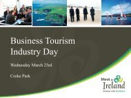 Business Tourism Industry Day 23 March 2011 ... - Meet In Ireland