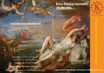 Programmheft 2013 - Kulturverein Eberdingen