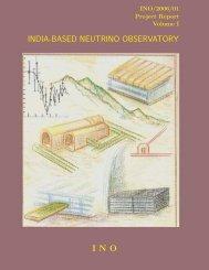 india-based neutrino observatory ino - The Institute of Mathematical ...
