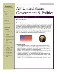 Course Description Newsletter AP US Government and Politics ...