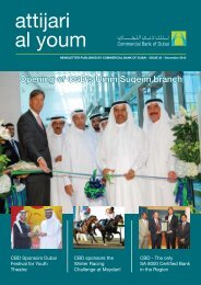 ISSUE 30 - December 2010 - Commercial Bank of Dubai