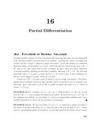 Chapter 16 Partial Differentiation