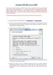 Instalace MS SQL server 2005 - Ježek software