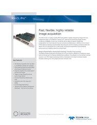 X64-CL iPro Datasheet - Teledyne DALSA Inc