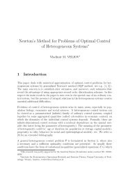 Newton's Method for Problems of Optimal Control of Heterogeneous ...