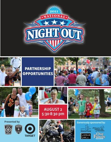 PARTNERSHIP OPPORTUNITIES AUGUST 2 5:30-8:30 pm
