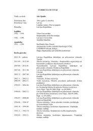 vēstnieka CV - Latvijas Republikas Ārlietu Ministrija