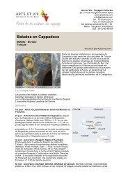 Balades en Cappadoce - Arts et Vie