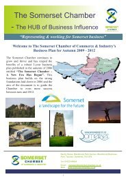 View the 2009 -2012 Somerset Chamber of Commerce Business Plan