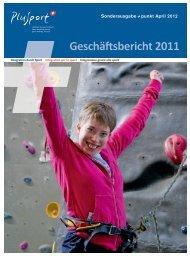 Geschäftsbericht 2011 - PLUSPORT Behindertensport Schweiz