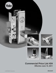 Effective June 15, 2011 - Access Hardware Supply