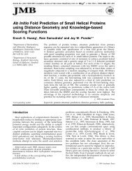 Ab Initio Fold Prediction of Small Helical Proteins ... - Ram Samudrala