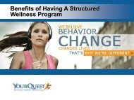Benefits of Having A Structured Wellness Program