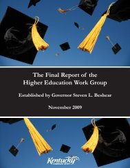 The Final Report of the Higher Education Work Group - Council on ...