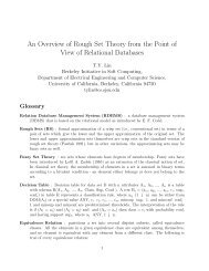 An Overview of Rough Set Theory from the Point of View of ...